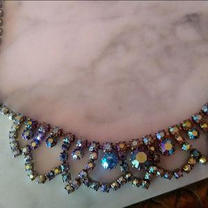 Beautiful Iridescent Vintage Costume Necklace